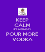 KEEP CALM IT'S MONDAY POUR MORE VODKA - Personalised Poster A4 size