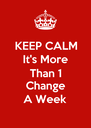KEEP CALM It's More Than 1 Change A Week - Personalised Poster A4 size