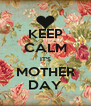 KEEP CALM IT'S MOTHER DAY - Personalised Poster A4 size
