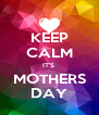 KEEP CALM IT'S  MOTHERS DAY - Personalised Poster A4 size