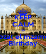 KEEP CALM it's Mozat el mzamez Birthday - Personalised Poster A4 size