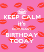 KEEP CALM it's MURUGAN'S BIRTHDAY TODAY - Personalised Poster A4 size
