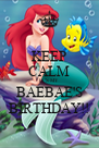 KEEP CALM IT'S MY  BAEBAE'S BIRTHDAY!! - Personalised Poster A4 size