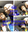 KEEP CALM It's my BEST FRIEND'S BIRTHDAY!!!!!! - Personalised Poster A4 size