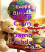 Keep Calm It's My  Damn Birthday - Personalised Poster A4 size