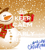 KEEP CALM IT'S NEARLY  CHRISTMAS - Personalised Poster A4 size