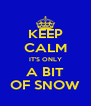 KEEP CALM IT'S ONLY A BIT OF SNOW - Personalised Poster A4 size