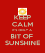 KEEP CALM IT'S ONLY A  BIT OF  SUNSHINE - Personalised Poster A4 size