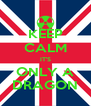 KEEP CALM IT'S ONLY A DRAGON - Personalised Poster A4 size