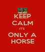 KEEP CALM IT'S  ONLY A HORSE - Personalised Poster A4 size