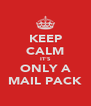 KEEP CALM IT'S ONLY A MAIL PACK - Personalised Poster A4 size