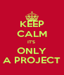 KEEP CALM IT'S  ONLY A PROJECT - Personalised Poster A4 size