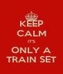 KEEP CALM IT'S ONLY A TRAIN SET - Personalised Poster A4 size