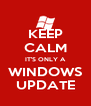 KEEP CALM IT'S ONLY A WINDOWS UPDATE - Personalised Poster A4 size