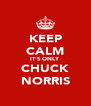 KEEP CALM IT'S ONLY CHUCK NORRIS - Personalised Poster A4 size