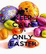 KEEP CALM IT'S ONLY EASTER - Personalised Poster A4 size