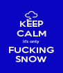 KEEP CALM it's only FUCKING SNOW - Personalised Poster A4 size