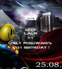 KEEP CALM IT'S  ONLY MINDWARPS  21ST BIRTHDAY ! - Personalised Poster A4 size