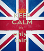 KEEP CALM it's  only   rain  - Personalised Poster A4 size