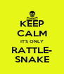 KEEP CALM IT'S ONLY RATTLE- SNAKE - Personalised Poster A4 size