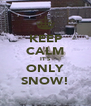 KEEP CALM IT'S ONLY SNOW! - Personalised Poster A4 size