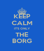 KEEP CALM IT'S ONLY THE BORG - Personalised Poster A4 size