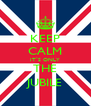 KEEP CALM IT`S ONLY THE JUBILE - Personalised Poster A4 size