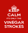 KEEP CALM IT'S ONLY THE VINEGAR STROKES - Personalised Poster A4 size