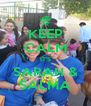 KEEP CALM IT'S SARAH & SALMA - Personalised Poster A4 size