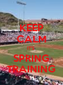 KEEP CALM IT'S  SPRING TRAINING - Personalised Poster A4 size