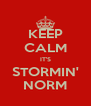 KEEP CALM IT'S STORMIN' NORM - Personalised Poster A4 size