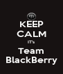 KEEP CALM IT's Team BlackBerry - Personalised Poster A4 size