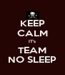 KEEP CALM IT's TEAM NO SLEEP - Personalised Poster A4 size