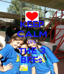 KEEP CALM IT'S THE 3 BFFs - Personalised Poster A4 size