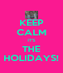 KEEP CALM IT'S THE HOLIDAYS! - Personalised Poster A4 size