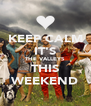 KEEP CALM IT'S THE VALLEYS THIS WEEKEND - Personalised Poster A4 size