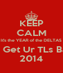 KEEP CALM It's the YEAR of the DELTAS You'll Get Ur TLs Back in 2014 - Personalised Poster A4 size