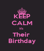 KEEP CALM It's  Their  Birthday - Personalised Poster A4 size