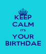 KEEP CALM IT'S YOUR BIRTHDAE - Personalised Poster A4 size