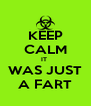 KEEP CALM IT  WAS JUST A FART - Personalised Poster A4 size