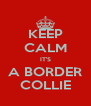 KEEP CALM IT'S A BORDER COLLIE - Personalised Poster A4 size