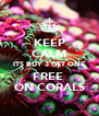 KEEP CALM ITS BUY 3 GET ONE FREE  ON CORALS - Personalised Poster A4 size