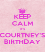 KEEP CALM IT'S COURTNEY'S BIRTHDAY - Personalised Poster A4 size