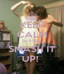 KEEP CALM its friday SMASH IT UP!  - Personalised Poster A4 size