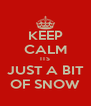 KEEP CALM ITS JUST A BIT OF SNOW - Personalised Poster A4 size