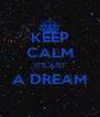 KEEP CALM IT'S JUST A DREAM  - Personalised Poster A4 size