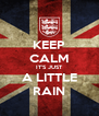 KEEP CALM IT'S JUST A LITTLE RAIN - Personalised Poster A4 size