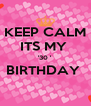 KEEP CALM ITS MY  '30 ' BIRTHDAY   - Personalised Poster A4 size