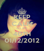 KEEP CALM ITS MY 40TH 01/12/2012 - Personalised Poster A4 size
