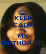 KEEP CALM ITS MY BIRTHDAY!!! - Personalised Poster A4 size